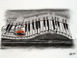 The piano has been drinking by Anna-Larie