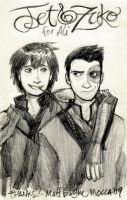 Jet and Zuko by heymatt