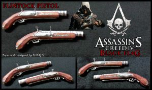 Flintock Pistol -Assassin's Creed 4 papercraft pdo by suraj281191