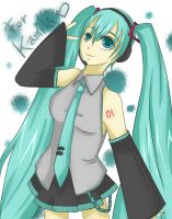 Miku Hatsune - Vocaloid by Sweet-Crow