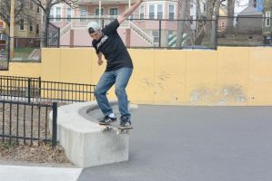 The Skateboarder Ready To Stick the Landing by Miss-Tbones