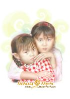 my two little sisters by YoKho