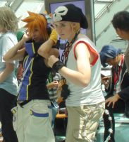 Joshua, Neku and Beat from The World Ends With You by trivto