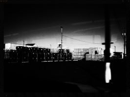 Shipping Yard (Black And White) by MissDevotion