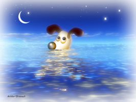 Swimming at night by altergromit