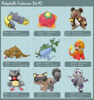 Adoptable fakemon set 2 by princess-phoenix