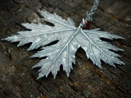 Dark Faerie Maple Leaf Pendant~ by QuintessentialArts