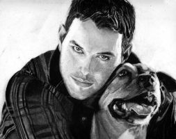 Kellan lutz and his pup by arwenpandora