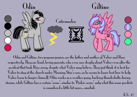 MLP Odin and Giltine reference by The-Clockwork-Crow