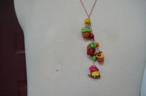 Apple Family Necklace by Iwasonceafairytale
