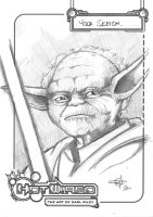 FREE Star Wars Yoda Sketch by Carl-Riley-Art