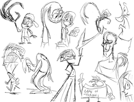 People Sketches 2 by ryanrosendal