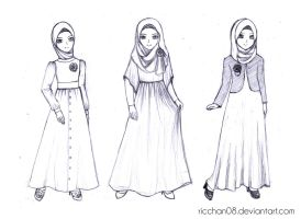 Muslimah Fashion Style by Ricchan08