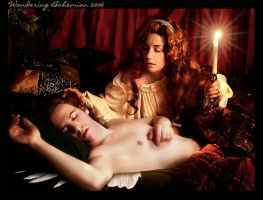 Cupid and Psyche by WanderingBohemian