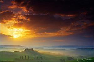 Tuscan Sunrise by samuelbitton
