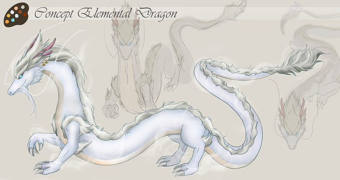 Concept Art - Elemental Dragon by ovidiocleto