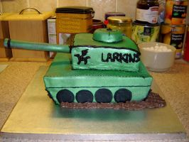 Tank Cake by kiyahocks