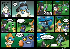 Riolu is Born - Page 5-6 by TamarinFrog