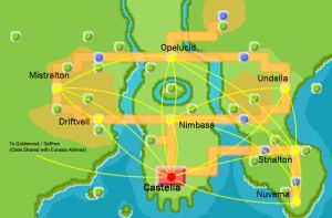 Pokemon Airlines Unova Route by MaxCheng95