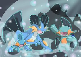 [SpeedArt] Pokemon: Mudkip, Marshtomp, Swampert