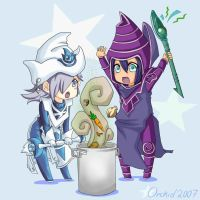 Silent and Dark Magician by blackorchid2007
