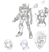 Sketch: Gundam Blackbird by Darcad
