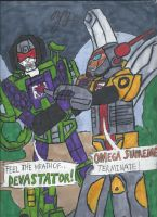 Devastator vs Omega Supreme. by GoroKai