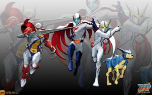 Tatsunoko Team - Wallpaper by iFab