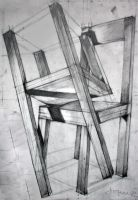 Chairs, pencil drawing 70x100 by SoniaSh