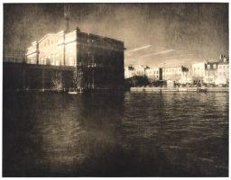 City Pier Lith Print by coldmarble