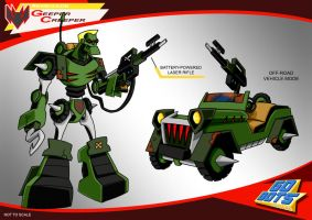 Gobots Animated Geeper Creeper by PWThomas