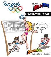 Team All-Star Rio 2016 VOLLEYBALL2 by Cartoonicus