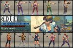 SSF4AE Sakura - Yuri Sakazaki costume 10 color by dsFOREST