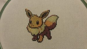 X-Stitch - Pokemon - Eevee by thirteendaze