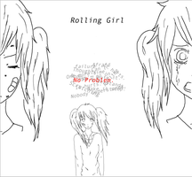 Rolling Girl by crazyawesomeepic