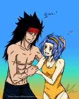 Gajeel and Levy! :) by Pure-Panic