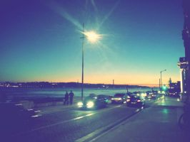 Lisbon evening by SugarEager