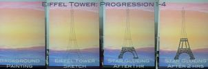Eiffel Tower Progression: 1-4 by strryeyedreamr27