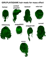 GIRLPLAYSGAME hair mods for xps by Padme4000