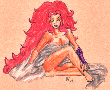 Starfire Pin-Up by UltimeciaFFB