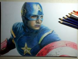 Captain America (in progress,,,) by Saules-dievas