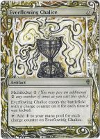 Magic Card Alteration: Everflowing Chalice by Ondal-the-Fool
