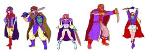 FFV Blue Mages by ObstinateMelon