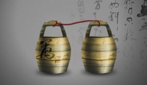 Chinese wooden cask by Azure-57