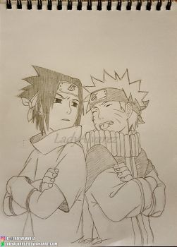 Sasuke and Naruto by LadyAlvarez