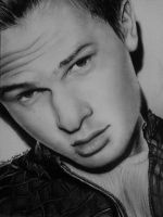 Ansel Elgort Drawing by keishacollins
