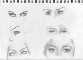 Female Eye Studies by Axleman2000