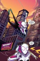 Spider-Gwen sample page 1 final by JoeyVazquez