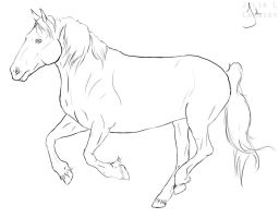 Horse gallop lineart by Lambidy