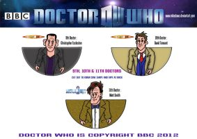 Doctor Who -  Mini Doctors 9 - 11 by mikedaws